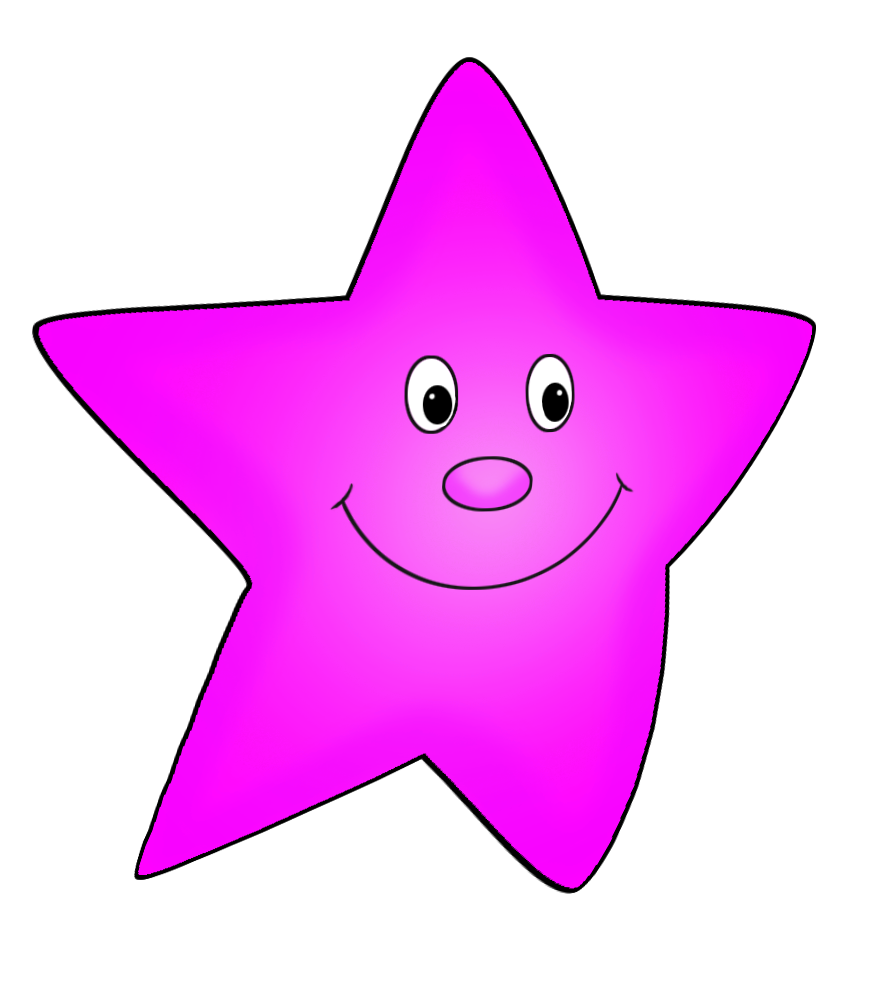 pink flying star drawing