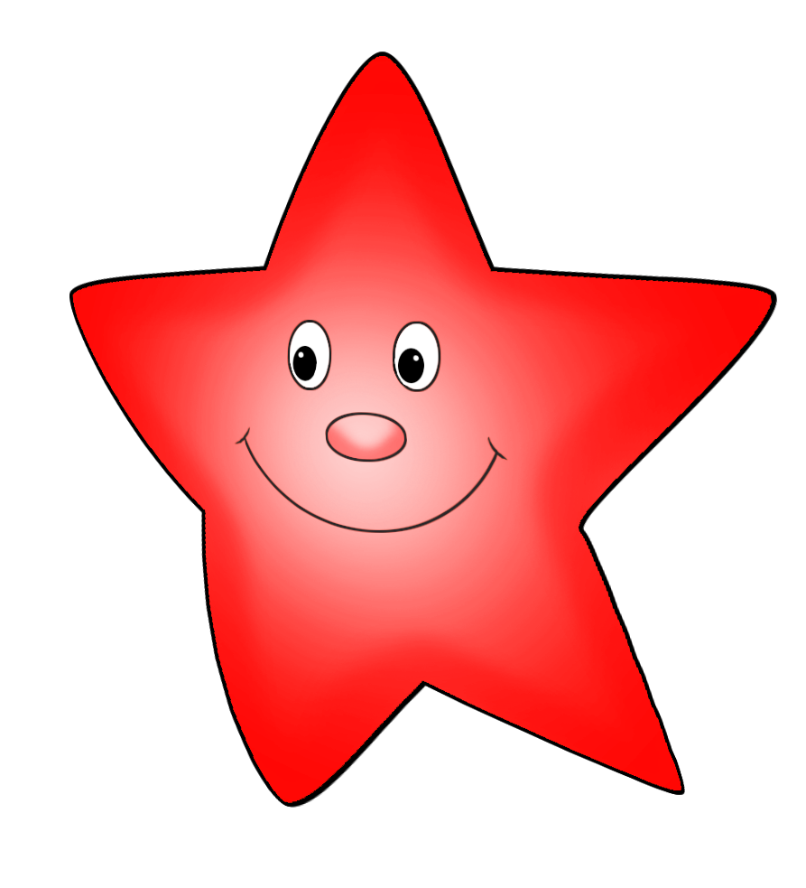 red cute star