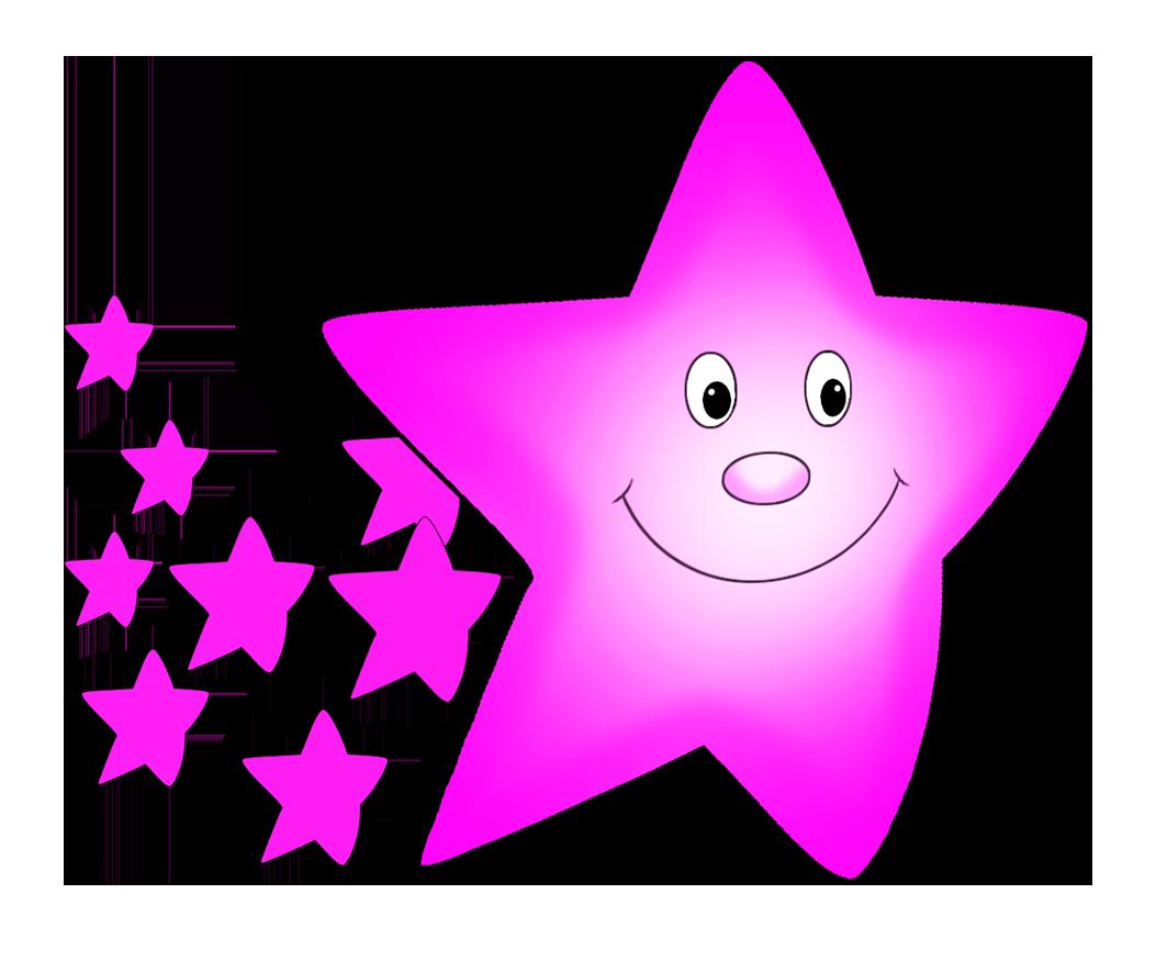 pink comet clipart