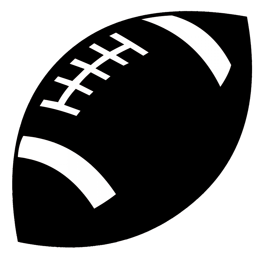 football ball silhouette