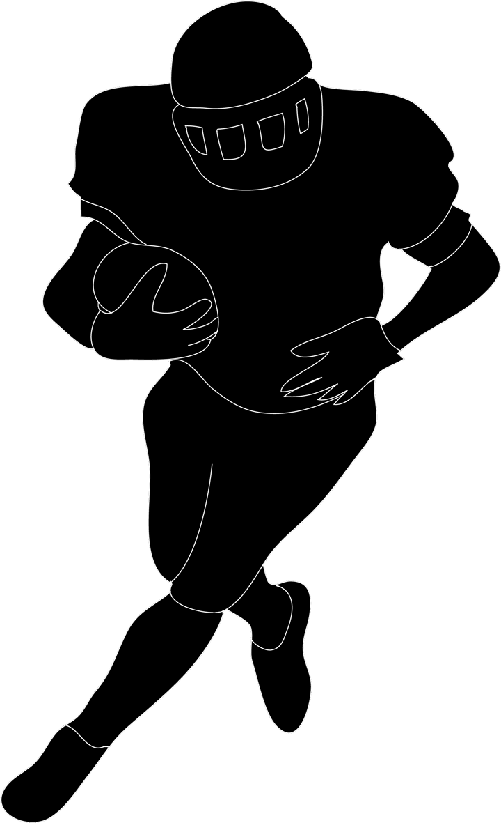 football-silhouette-black-white