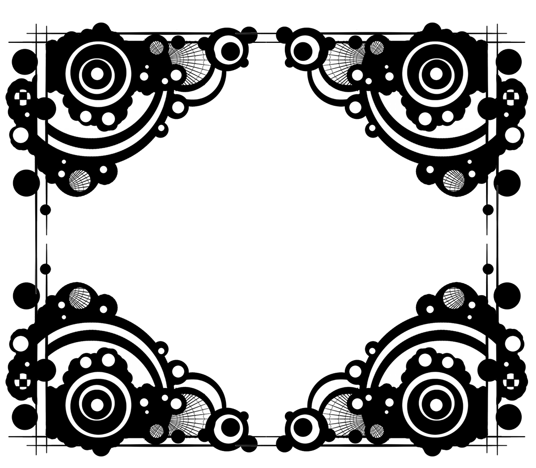 frame black white circles