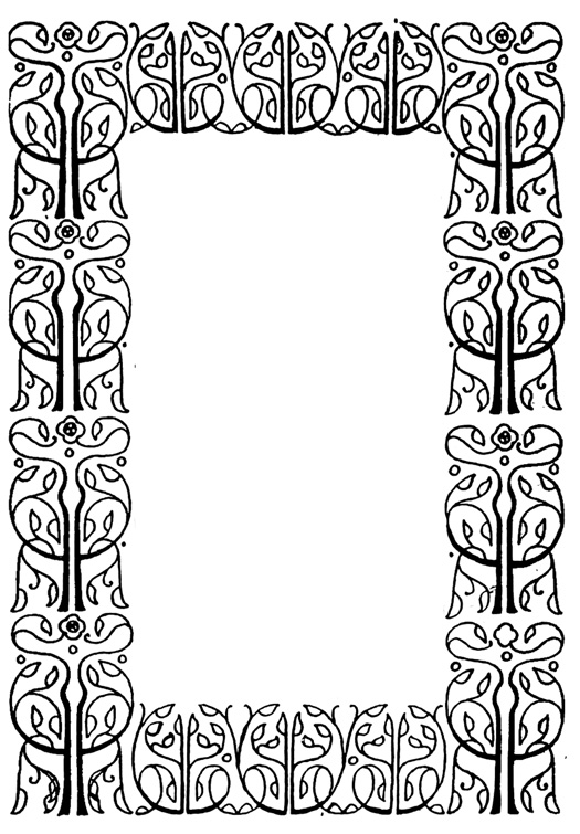 Victorian style frame from old book