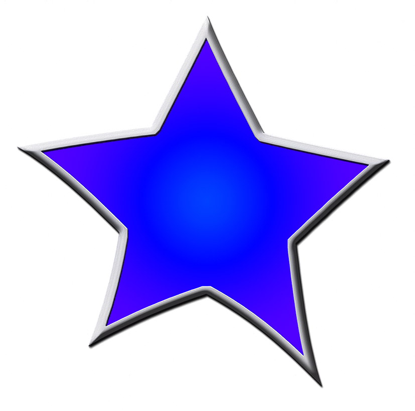 dark blue framed star