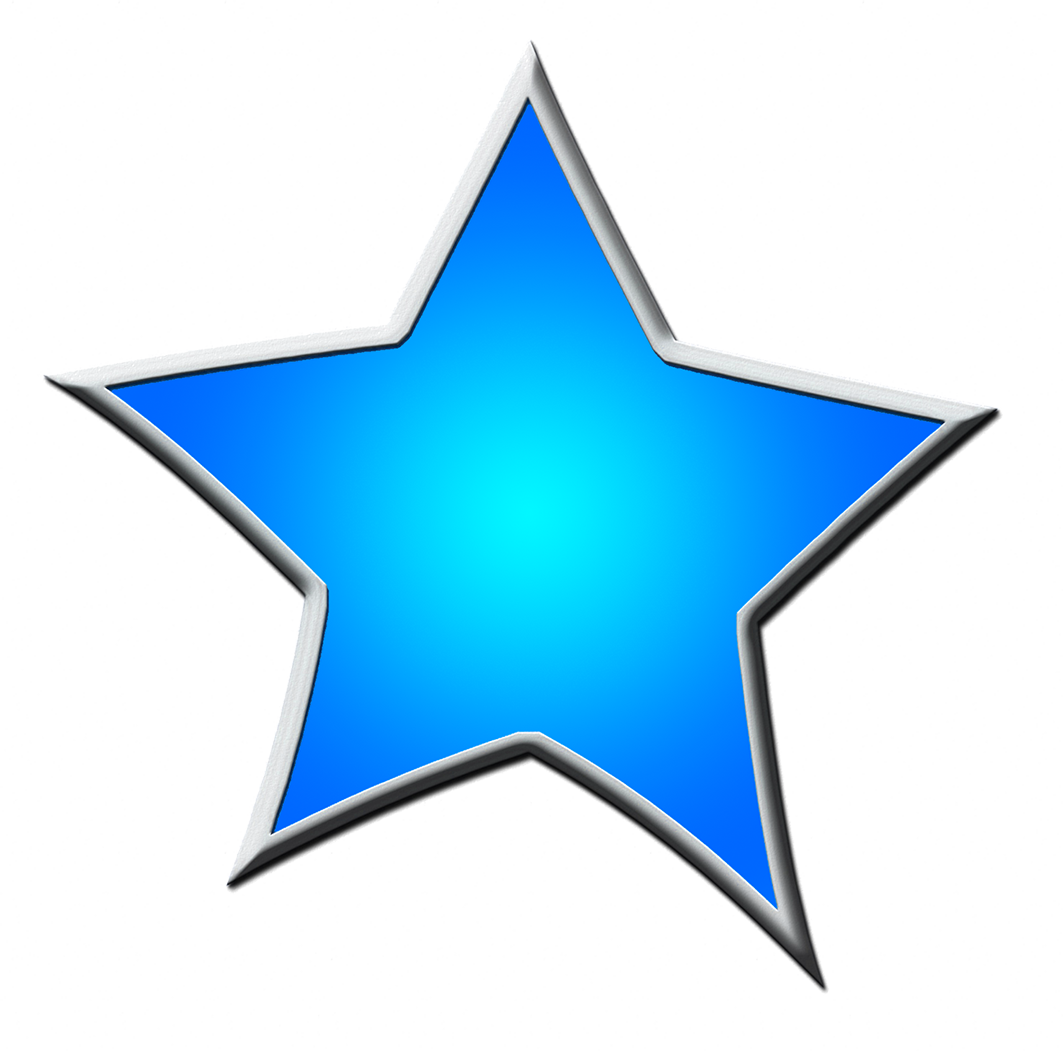 framed blue star clipart
