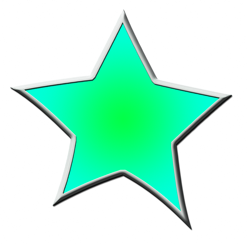 green framed star clipart