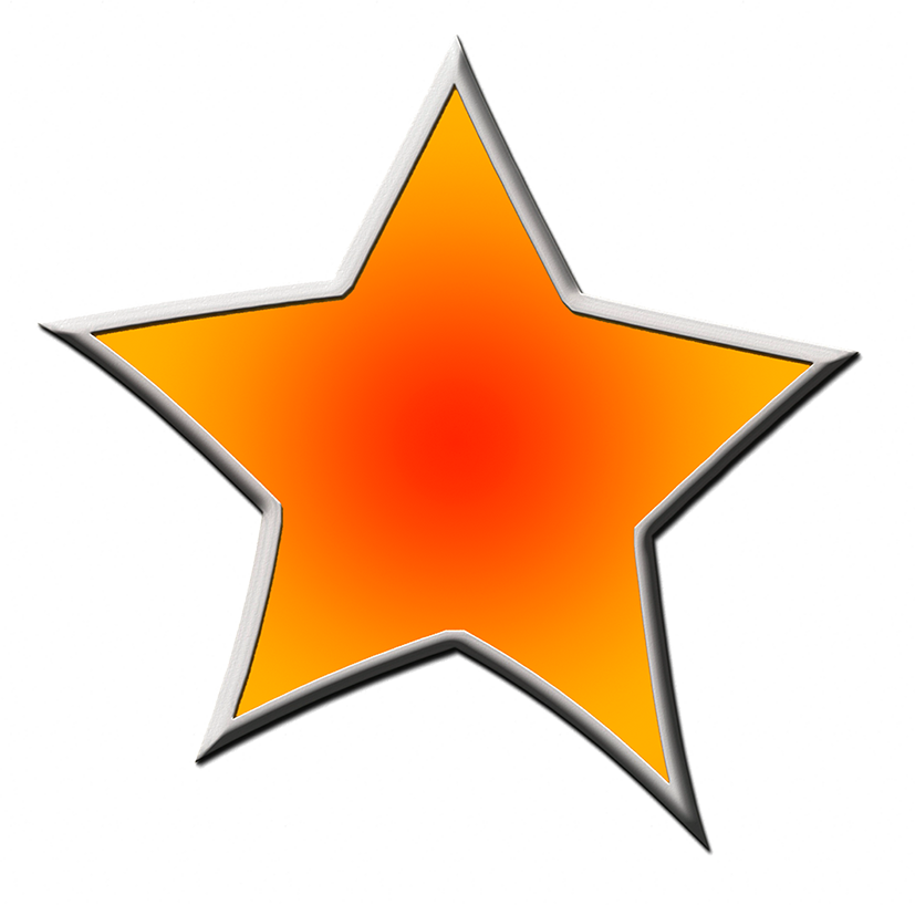 clipart stars orange