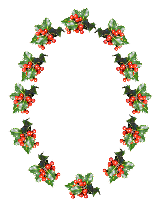 christmas frame oval
