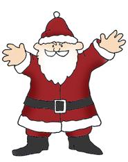 Angry santa claus clip art