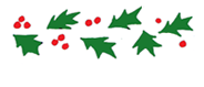 holly free christmas clip art border