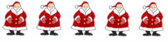 free christmas clip art border santas horisontal