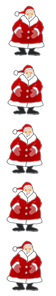 free christmas clip art border santas vertical