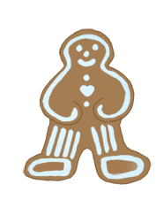 gingerbread man christmas clip art