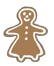 gingerbread woman christmas clip art