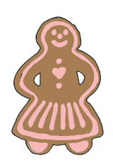 free Christmas clip art gingerbread woman pink