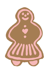 gingerbread woman free christmas clip art