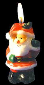 free christmas clip art santa as candle