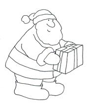 free christmas father christmas present