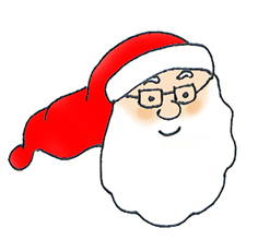 Santa Claus head with glasses