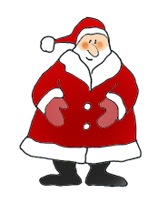 father christmas colored santa claus