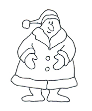 free christmas clip art sketch father christmas