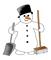 small snowman clip art