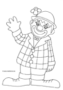 birthday coloring pages clown waving