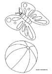 free coloring pages summer butterfly ball