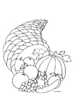 free coloring pages horn of plenty
