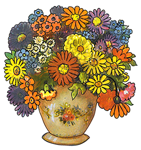 Flowers In Vase Clip Art Bouquet in vaseVase Of Flowers Clip Art