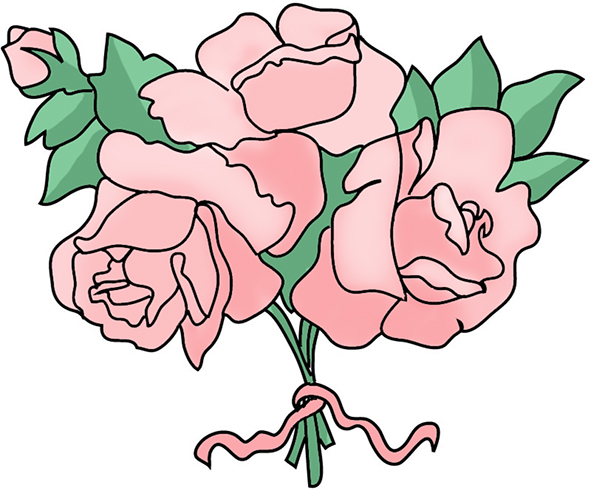 Free flower clipart free flower clipart pink roses mightylinksfo Choice Image