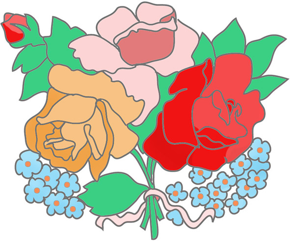 Tee-roses-forget-me-not-bouquet