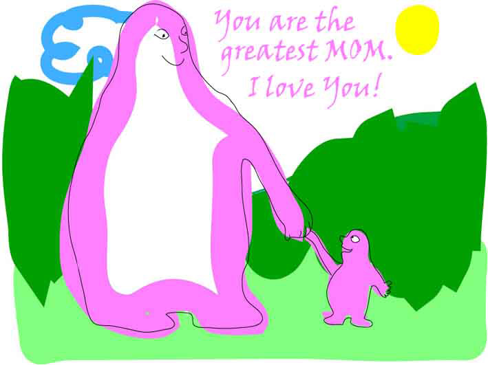 your are the greatest mom i love you card
