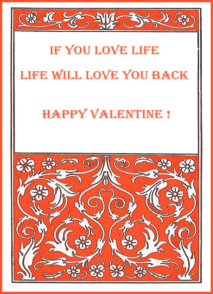 Jugend style Valentine Card