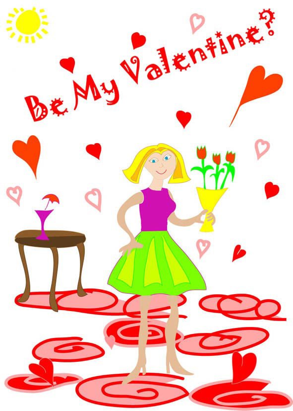 photo regarding Valentine Clip Art Free Printable named Cost-free printable Valentine playing cards