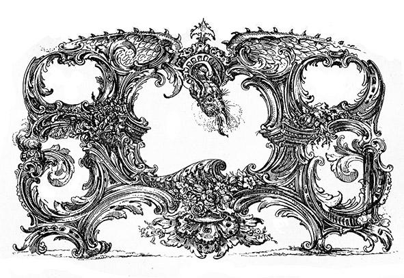 French Victorian era ornament