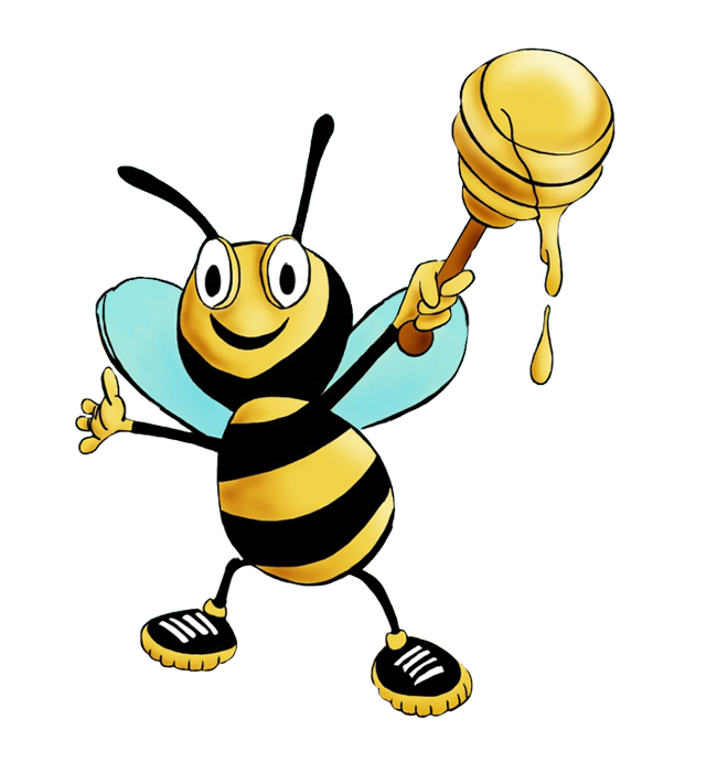 funny bee cartoon figure