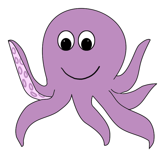 Octopus clipart for Octopus in cartoon