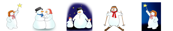 border with funny snowman clip art