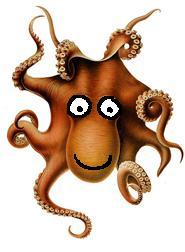 funny clip art octopus