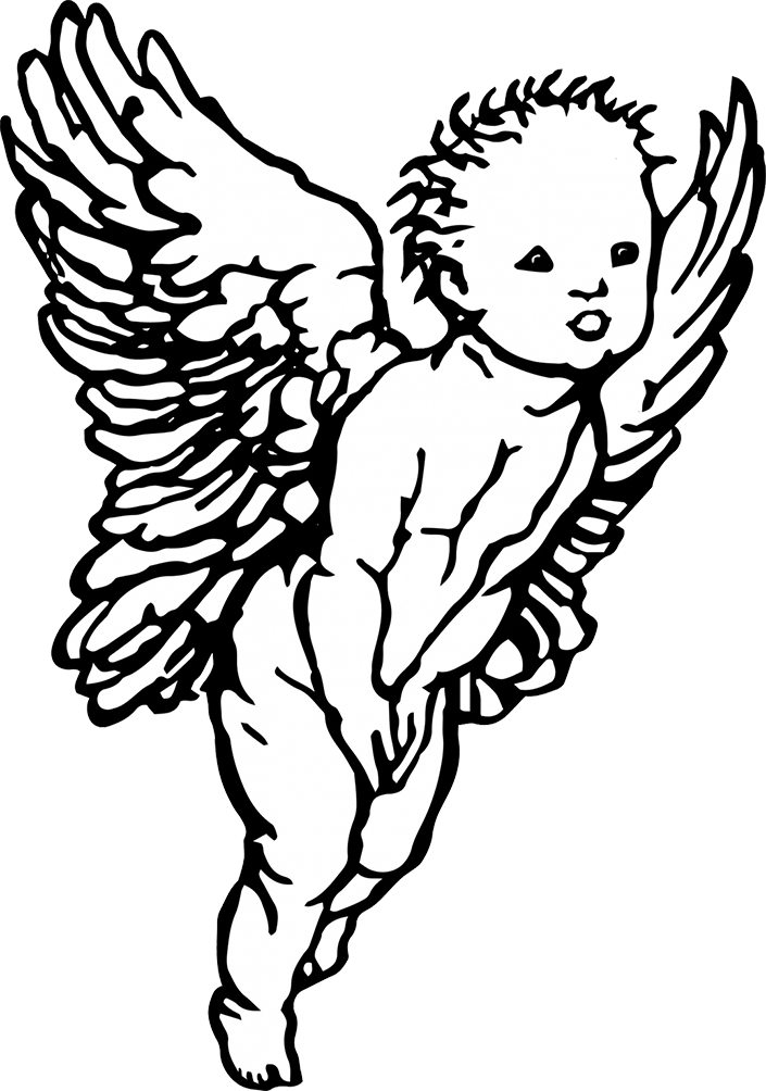 funny little cherub drawing
