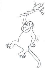 funny-monkey-drawings-black-white