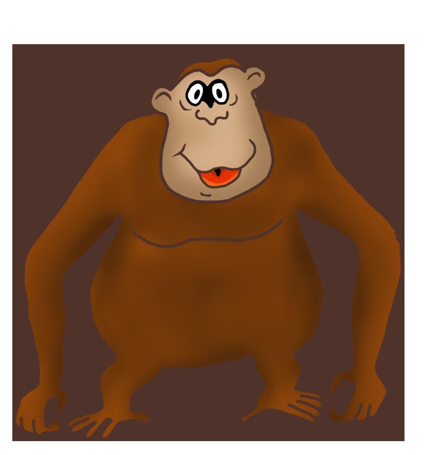 funny gorilla drawing