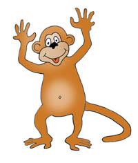 Funny monkey drawings - monkey clip art