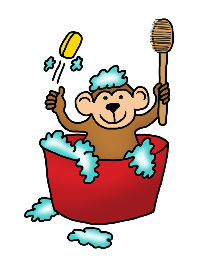 Funny Monkey Drawings Monkey Clip Art
