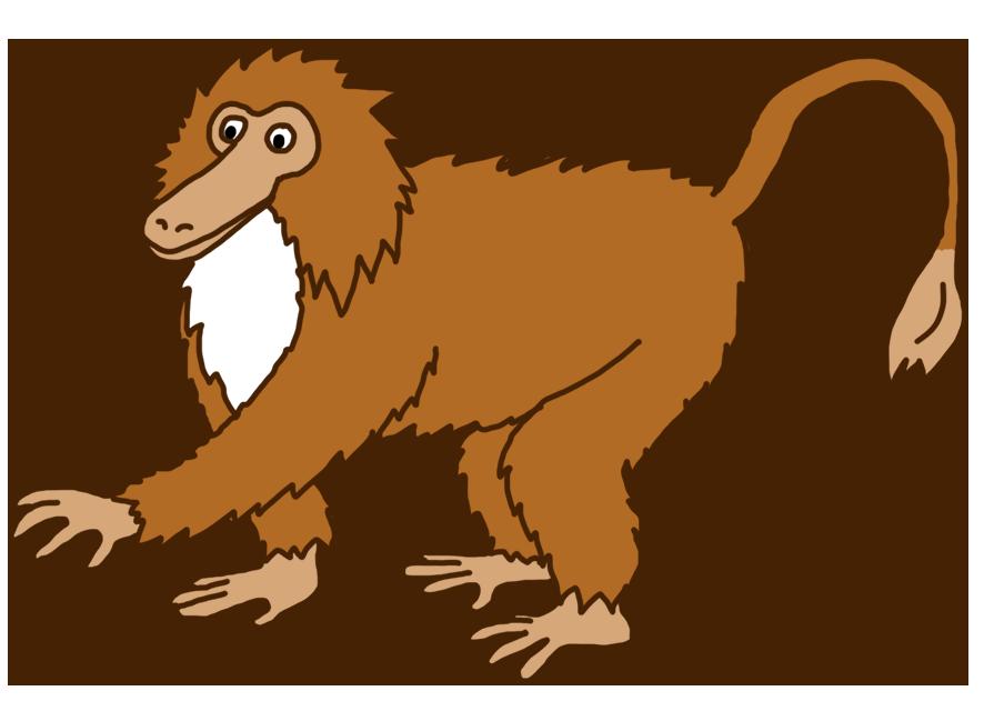 hairy monkey clip art