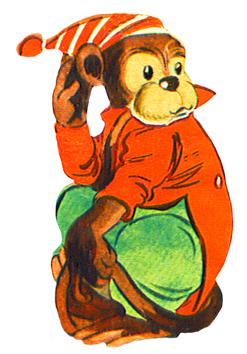 Monkey with clothes