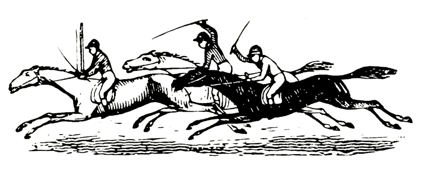 galloping horses drawing