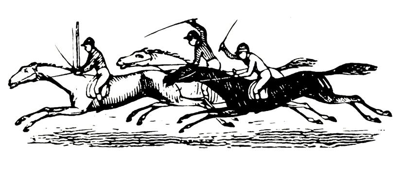 galloping horses drawing