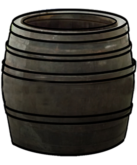 garden barrel wood
